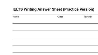Ielts Essays With Answers by Ielts Writing Answer Sheet As Pdf