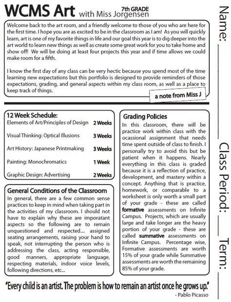 middle school syllabus template the smartteacher resource classroom syllabus