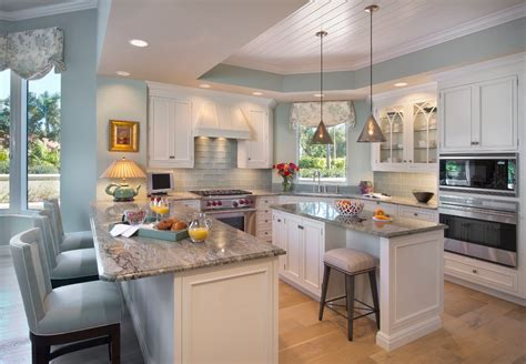 coastal color kitchen style with glass backsplash surf green granite
