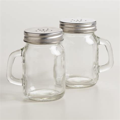 salt and pepper shakers mason jar salt and pepper shaker world market