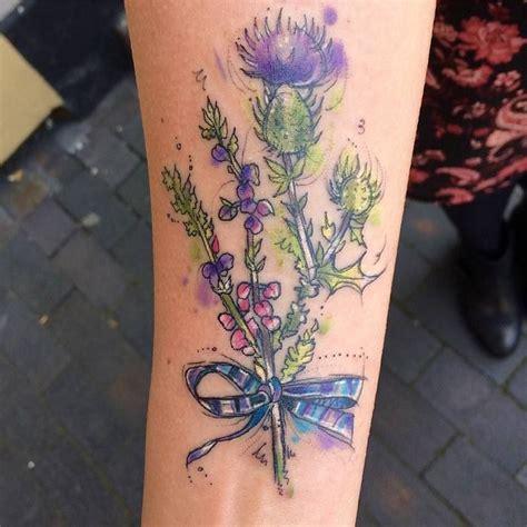 heather tattoo designs 27 impressive thistle ideas page 2 of 2