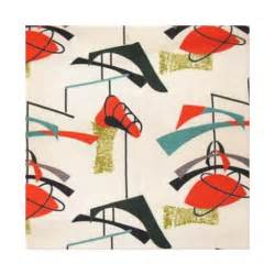 mid century modern atomic fabric stretched canvas canvas