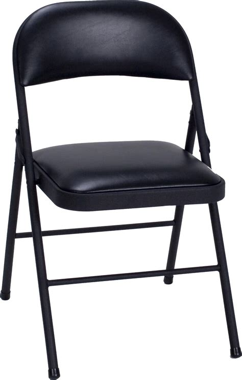 Folding Chair by Cosco Products Cosco Vinyl Folding Chair Black