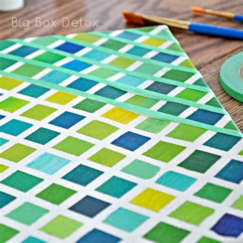 painted wall grid diy artwork for your home part 2