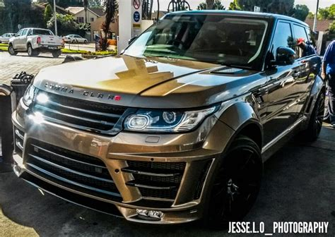 land rover lumma lumma design range rover clr rs spotted in south africa