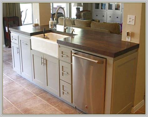 kitchen islands with dishwasher 25 best ideas about kitchen island with sink on