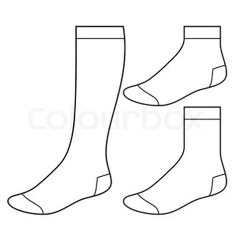 socks vector sock template vector colourbox