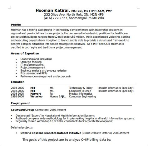 Sle Manager Resume Template 7 Free Sles