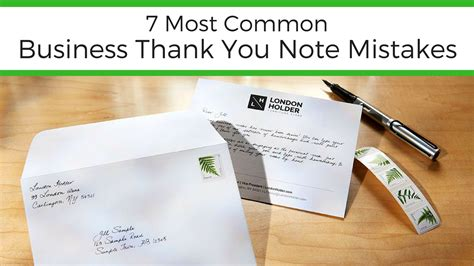 thank you letter after mistakes 7 most common business thank you note mistakes