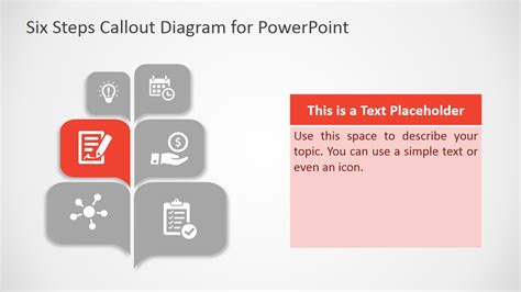 Free Six Steps Callout Diagram For Powerpoint Slidemodel What Is A Template In Powerpoint