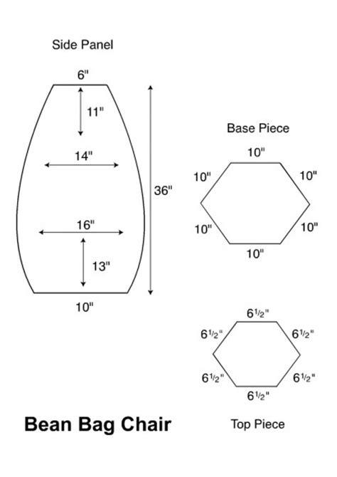 Bean Bag Chair Pattern Artist Loft Free Bean Bag Chair Pattern
