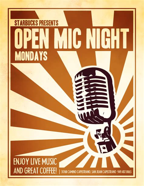 Open Mic Night Flyer Flickr Photo Sharing Open Mic Poster Template
