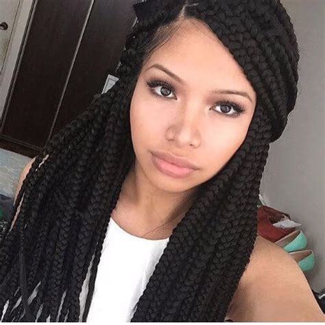 best size box braids for round face 80 great box braids styles for every occasion