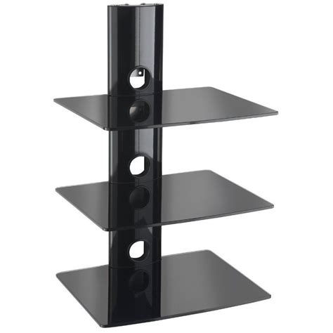 floating black glass shelves 12 best collection of floating black glass shelves