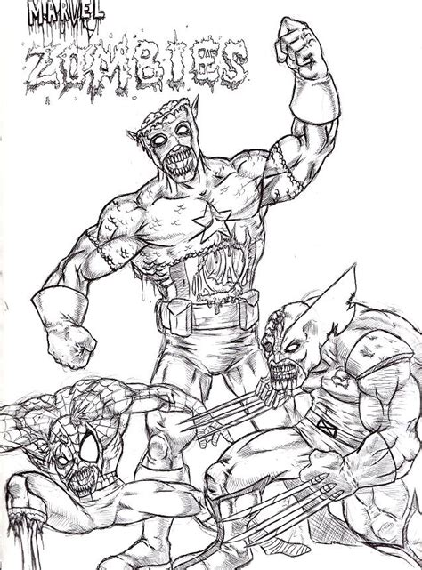 coloring pages of marvel zombies marvel zombies by evilhayato on deviantart