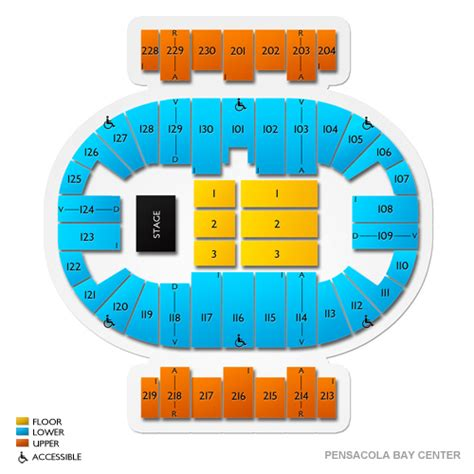 pensacola bay center seating pensacola bay center seating chart seats