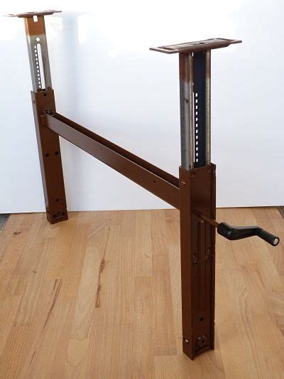 desk height for 6 2 image result for table lift with crank mechanism for