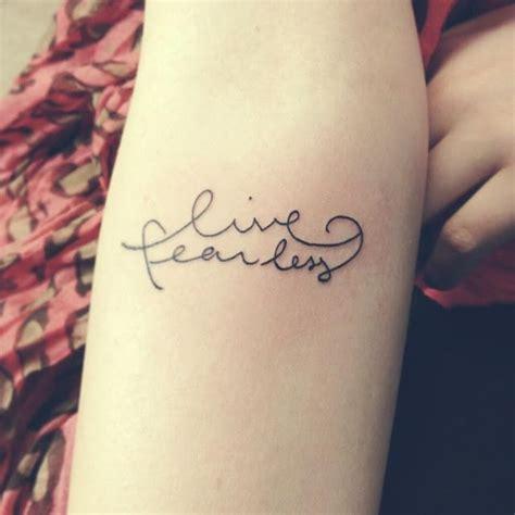 love fearlessly tattoo best 25 fearless tattoos ideas on
