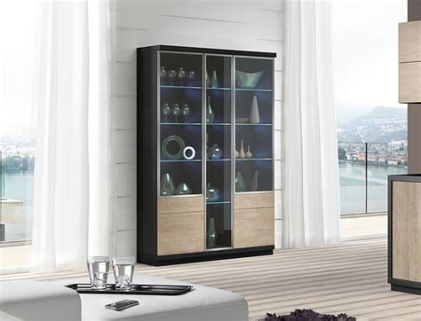 Modern Display Cabinets With Glass Doors Baixmoduls Modern 3 Door Display Cabinet With Glass Doors