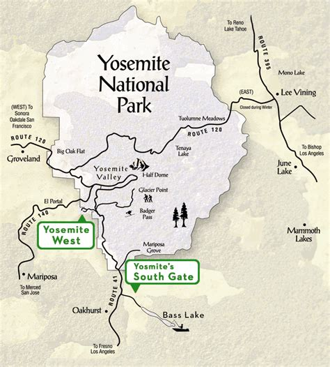 map of yosemite national park yosemite vacation rental homes yosemite national park