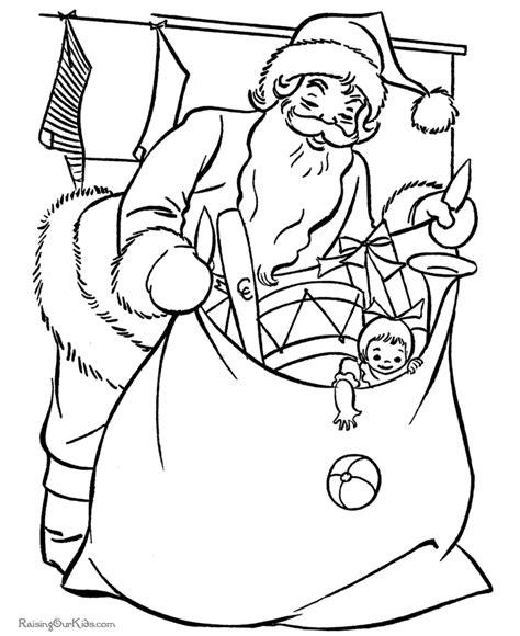 santa claus coloring page pdf free printable santa claus coloring pages bag of toys