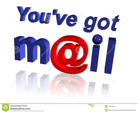 you ve you ve got mail stock photography image 15657462