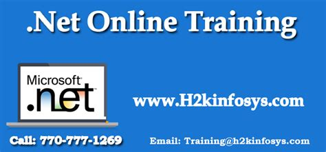 online tutorial net dotnet online training with certification by h2kinfosys