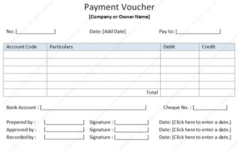 Credit Voucher Format Word payment voucher template soft templates