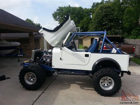 White Pearl 1982 Cj 7 Fiberglass Body Jeep