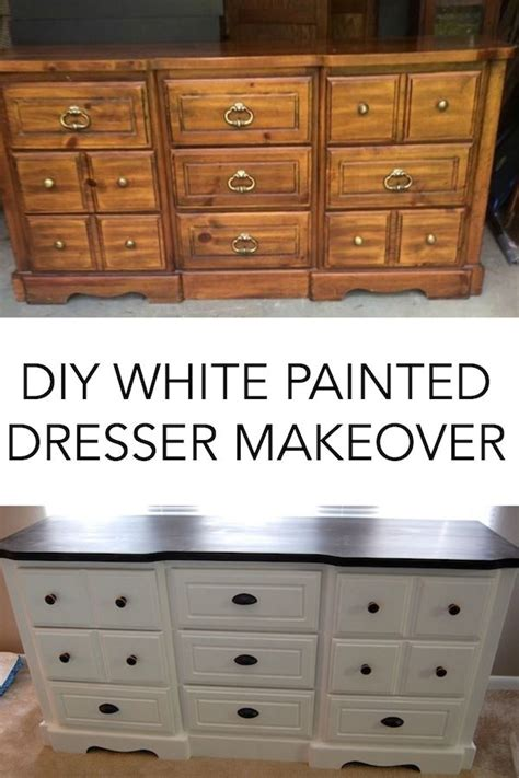 painted bedroom furniture before and after diy white painted dresser a merry life