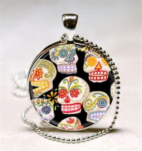 dia de los muertos jewelry day of the dead earrings orange sugar skulls necklace day of the dead jewelry dia de los