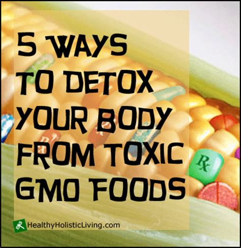 Ways To Detox Your From by 5 Ways To Detox Your From Toxic Gmo Foods Healthy