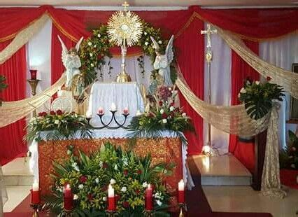 arreglo del templo para la celebracion de unm celebracion corpus christi pascua pinterest corpus