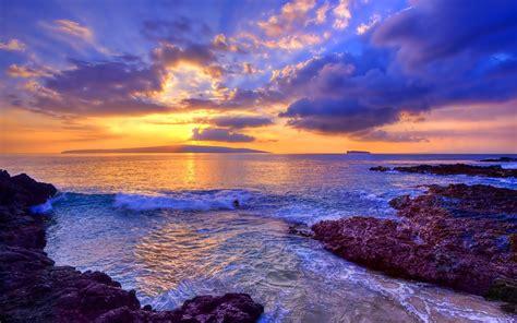ocean sunset hd wallpaper background image
