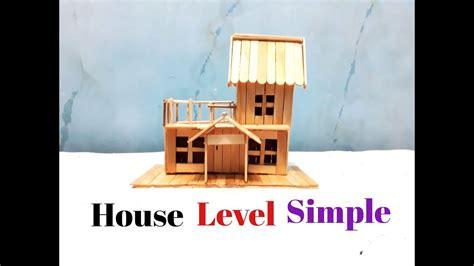 youtube membuat es krim sederhana membuat miniatur rumah tingkat sederhana dari stik es krim