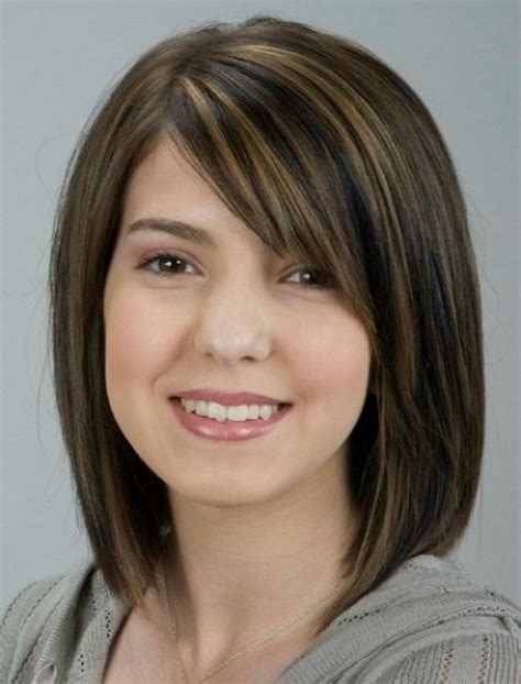 medium length hairstyles for a full face 17 best haircuts for round faces thicker hair haircuts