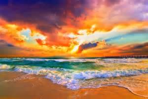 Quot orange sunset print seascape landscape skyscape quot by eszra redbubble