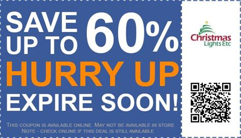 up to 60 off christmas lights etc coupon promo code