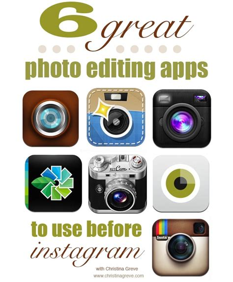 apps to fan edits 6 great photo editing apps to use before instagram