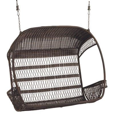 swingasan hanging chair swingasan 174 double mocha hanging chair pier 1 imports