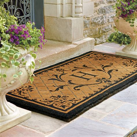 Personalized Front Door Mat Monogrammed Front Door Mats St Clair Monogrammed Door Mat Frontgate Traditional Doormats By