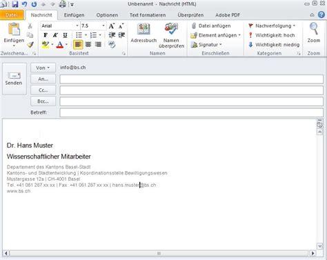 layout einer e mail staatskanzlei basel stadt e mail signatur