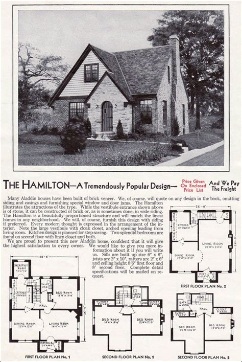 most popular kit home design and supply 1940 aladdin kit homes the hamilton plan 1 floor