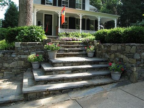 Entrance Stairs Design Cement Or Entry Steps Search Porticos Pinterest Stairs Landscape