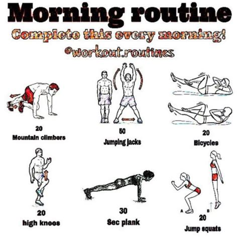morning workout routine at home most popular workout