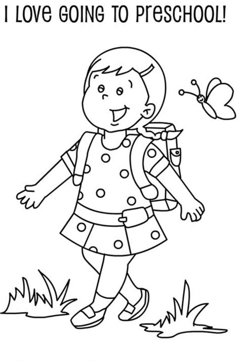 preschool coloring pages first day of school kindergarten first day of school coloring pages