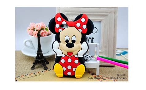 Casecassingcasing Soft Silicone Minnie Mouse For Iphone 6 Plus new mickey mouse minnie 3d soft silicone
