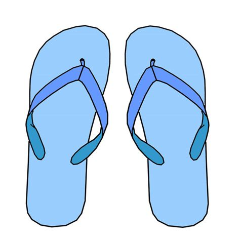 Hdf Sandal Vector Blackblue blue flip flops free stock photo domain pictures
