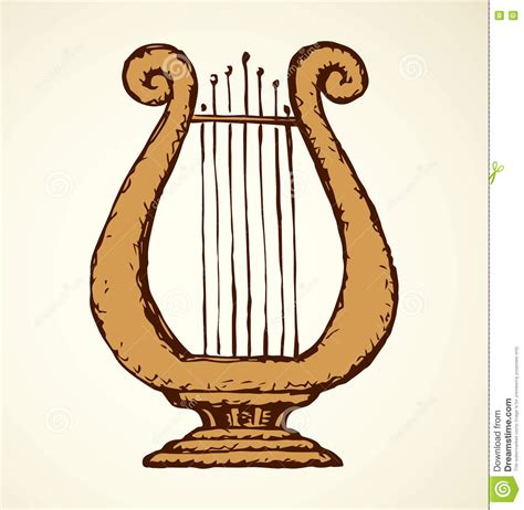 Rome Decoration Hand by Harp Vector Drawing Stock Vector Image Of Music