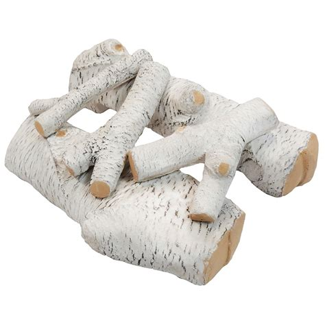 ceramic gas fireplace logs 16 inch birch ceramic fireplace gas logs 5 set